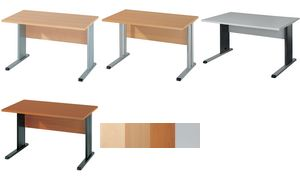 Wellemöbel desk'BÜRO COMBI + 3, (B) 1200 mm, grijs