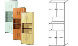 Wellemöbel Stellingen           cabinet'TOOL ', 5 verdiepingen,