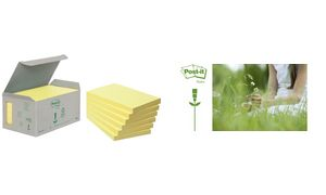 Post-it sticky notes Recycling, 76 x 76 mm, geel