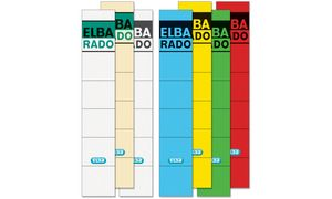 ELBA Ordnerrücken labels'ELBA   RADO '- korte / smalle, wit