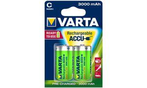 Varta C Oplaadbare Batterijen - 2 stuks - 3000 mAh