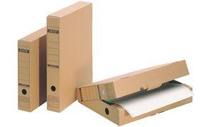 LEITZ archiefmateriaal doos met klep, A4, gegolfd