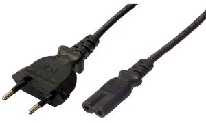 LogiLink Power Cable, Euro Plug - 2 polige Euro koppeling, 1,8 m