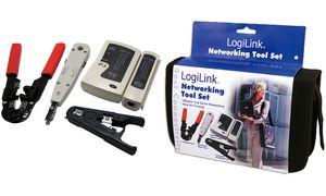 LogiLink netwerk tool set, in dezwarte tas