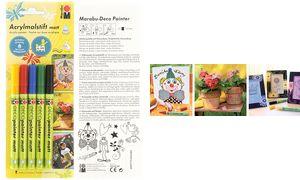 Marabu Acryl Marker'Deco        Schilder mat ', 5er Blister