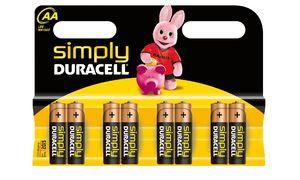 Duracell AA Simply Batterijen - 8 Stuks
