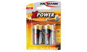 1x2 Ansmann Alkaline Baby C     X-Power