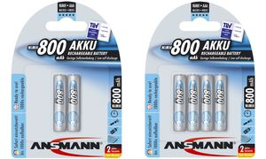 Ansmann AAA maxE Batterijen - 4 stuks - 800 mAh