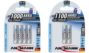 Ansmann AAA Batterijen - 4 stuks- 1000 mAh