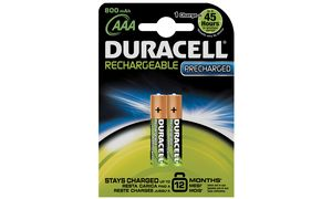 Duracell Oplaadbare Batterijen  AAA 800 Mah 2x Pak - Precharged