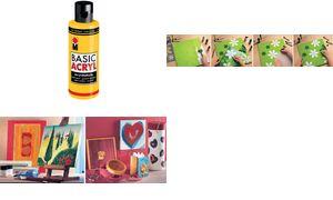 Marabu Acryl paint'BasicAcryl ',wit, 80 ml