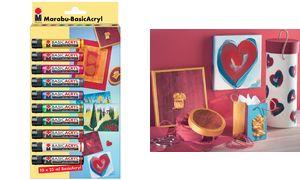 Marabu Acryl paint'BasicAcryl ',Starter Set 10 x 25ml