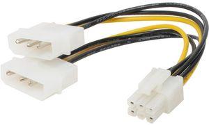 """Shiverpeaks BASIC S Y voedingska- 2 x 5.25 """"Molex connector, 0,1"""