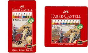 Kleurpotlood Faber-Castell      Castle zeskantig metalen etui