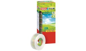 Tesafilm Eco & Clear,           transparant, 15 mm x 10 m
