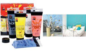 Marabu Acryl paint'AcrylColor ',Starter Set 5 x 100 ml