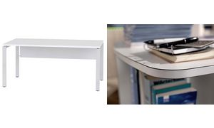 Wellemöbel desk'BRW + 5 '(B)    1800 mm, alpine wit