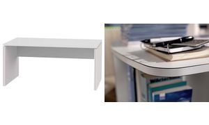 Wellemöbel desk'BRW + 5 '(B)    1400 mm, alpine wit