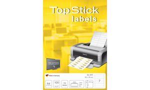 TOP STOK Ordnerrücken labels,   192 x 38 mm, wit
