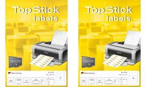 TOP STOK Ordnerrücken labels,   192 x 61 mm, wit