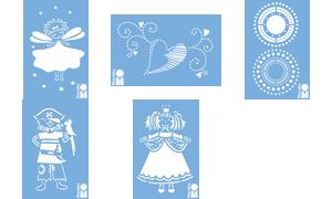 Marabu ontwerp template'Fairy ',100 x 150 mm