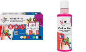 mara door Marabu Window Color,  80 ml, set van 6