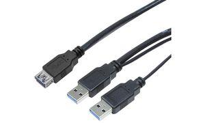 LogiLink USB 3.0                Y-voedingskabel, stekker -