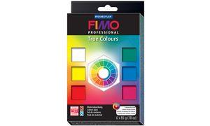 """PROFESSIONAL FIMO boetseerklei  set'True kleuren """", Set van 6"""