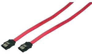 LogiLink Serial ATA kabel, 0,90 m, rood