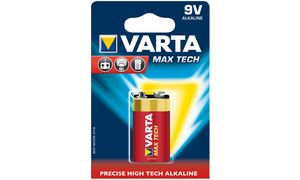 VARTA alkaline battery'Max tech ', E-Block (9V / 6LR61)