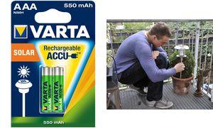 VARTA NiMH battery'Rechargeable Accu Solar ', Micro (AAA / HR03)
