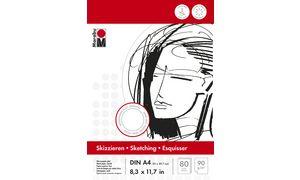 Marabu schetsblok, A4, 90 g /   m², 80 vellen