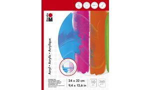 Marabu Acrylmalblock, 240 x 320 mm, 360 g / m², 10 vel