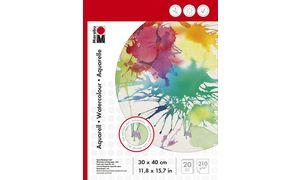 Marabu Aquarellblock, 240 x 320 mm, 210 g / m², 20 vellen