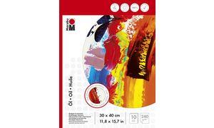 Marabu Ölmalblock, 240 x 320 mm,240 g / m², 10 vel