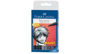 tekenstift Faber Castell Pitt   Artist Pen Manga 8-delig etui