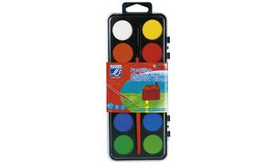 LEFRANC & BOURGEOIS             Deckfarbkasten, 12 kleuren