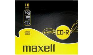 Maxell CD-R 80min/700Mb         verpakt 10 stuks in slimcase