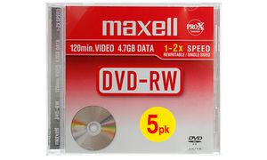 Maxell DVD-RW 120 min 4,7 GB 2x Jewel Case