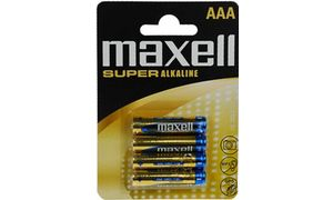 Maxell Alkaline battery'SUPER ',AAA, 4-Blister
