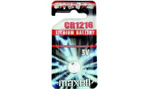 maxell Lithium Knopfzelle, CR2033,0 Volt, Typ CR2032, Knopfzelle