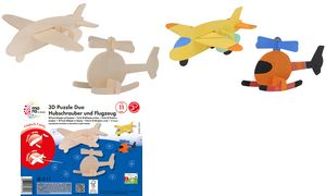 mara door Marabu 3D Puzzel      Duo\'Hubschrauber & Flugzeug \'