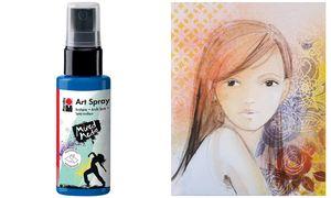 Marabu Acryl Spray'Art Spray ', 50ml framboos,