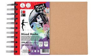 Marabu Spiralbuch'Mixed Media ',DIN A5, 300 g / m², 32 bladen