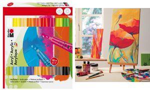 Marabu AcrylVerven Set, 18 x 36 ml, verschillende kleuren