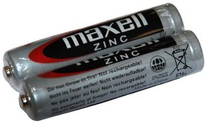 maxell Zink Batterie, Micro AAA,1,5 Volt, Typ: R03, Folienverpac