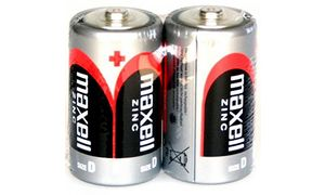 maxell Zink Batterie, Mono D, 2 1,5 Volt, Typ: R20, Folienverpac
