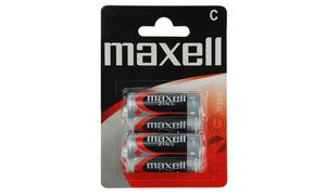 maxell Zink Batterie, Baby C, 2 1,5 Volt, Typ: R14, Blisterverpa