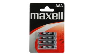 maxell Zink Batterie, Micro AAA,1,5 Volt, Typ: R03, Blisterverpa