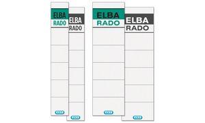 ELBA Ordnerrcken-Einsteckschildweiá, aus Karton, 240 g/qm, fr